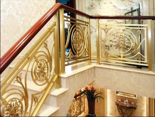 铝艺楼梯扶手厂家电话图片